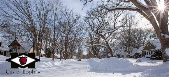 Snow Plowed Street in Winter