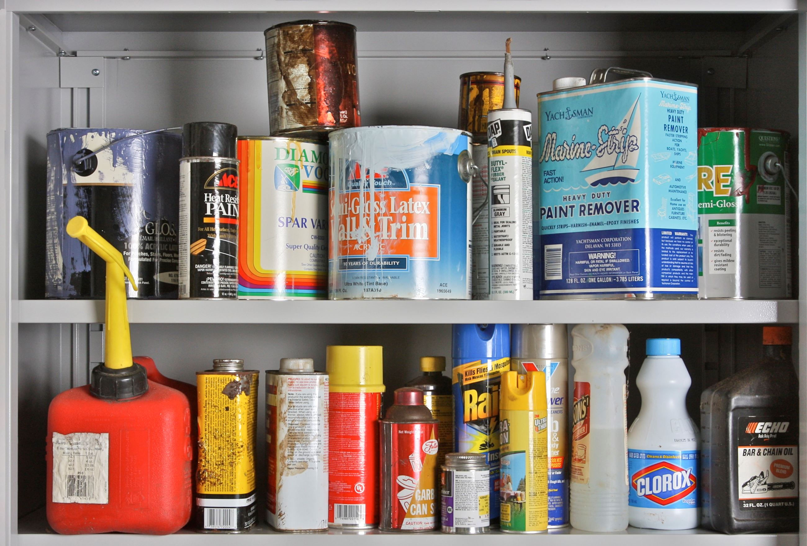Household Hazardous Waste Shelf
