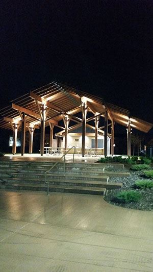 Cottageville Park Picnic Shelter in the Night