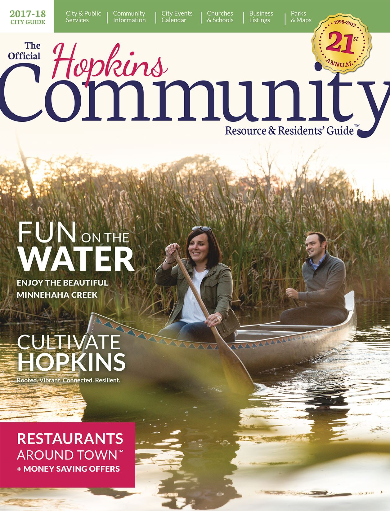 2017 Hopkins Community Guide Cover