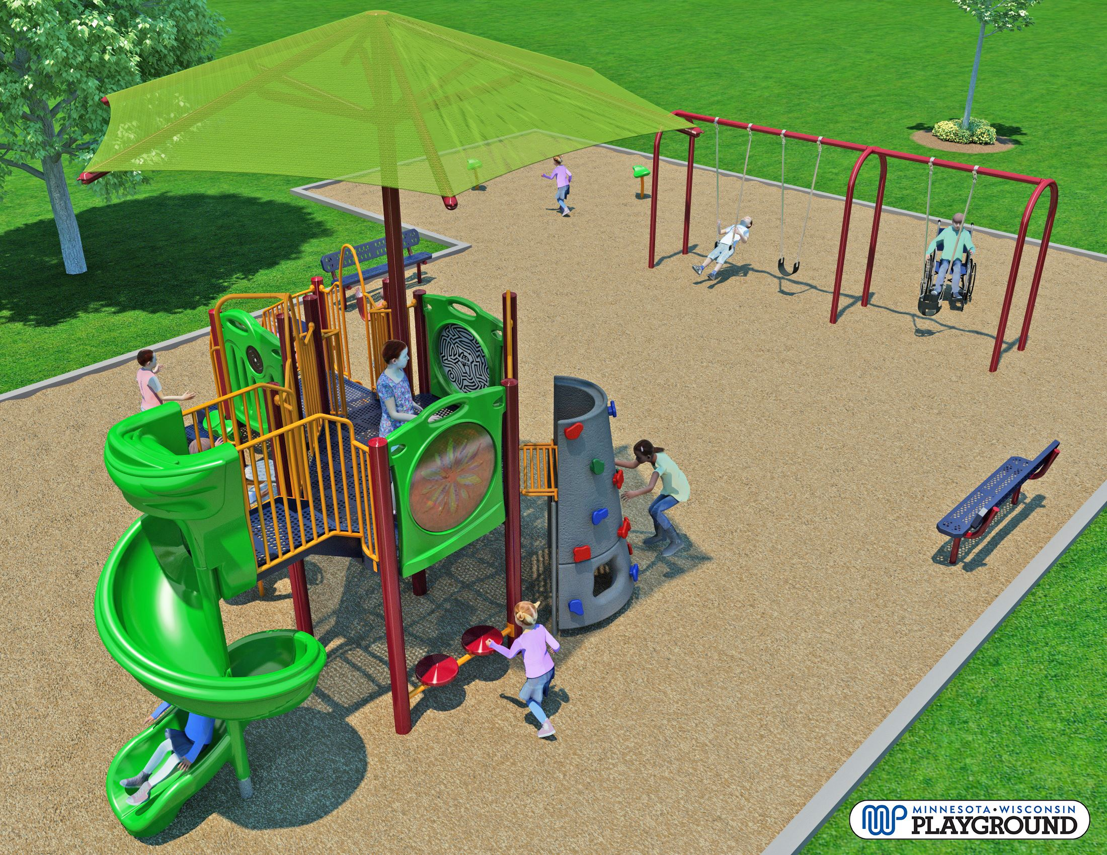 Elmo Park Play Equipment (2018) Animated View