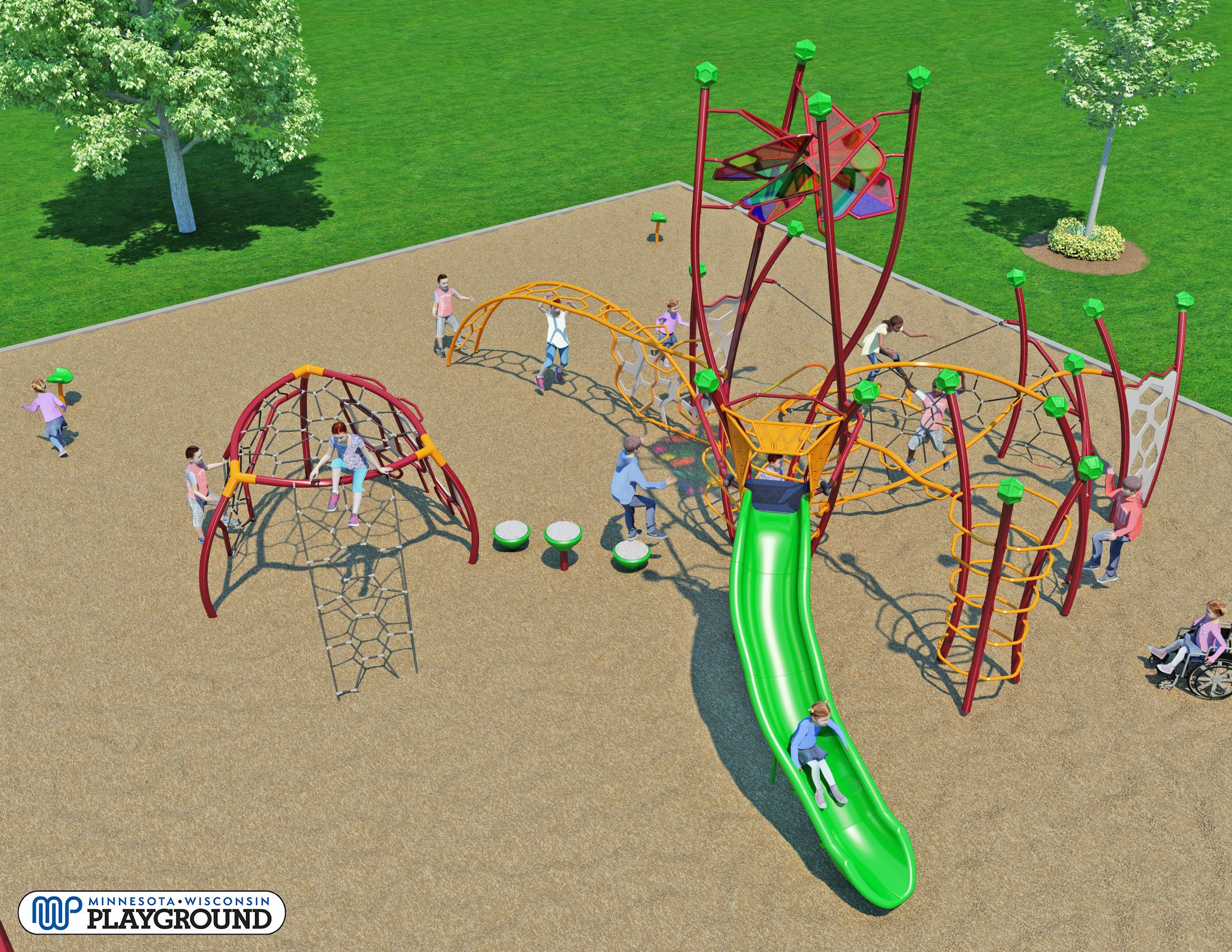 Park Valley Play Equipment (2018) Animated View